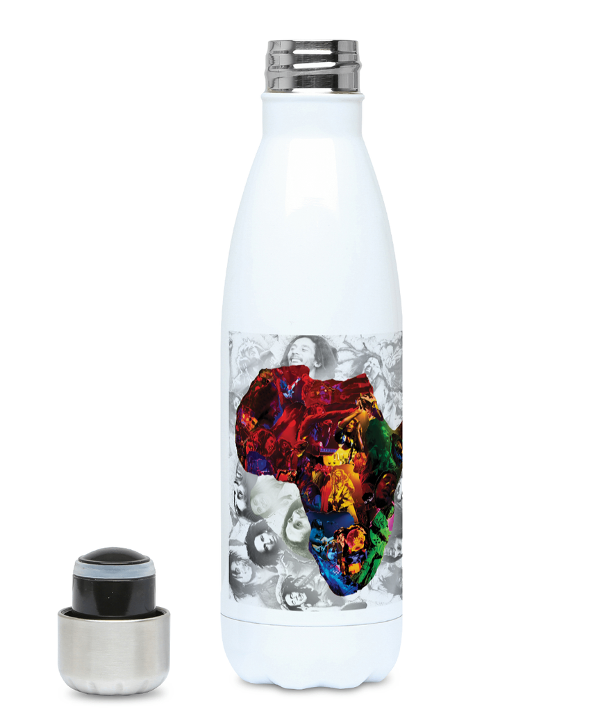 Bob Marley Africa Water Bottle 500ml Hot or Cold - multymedia