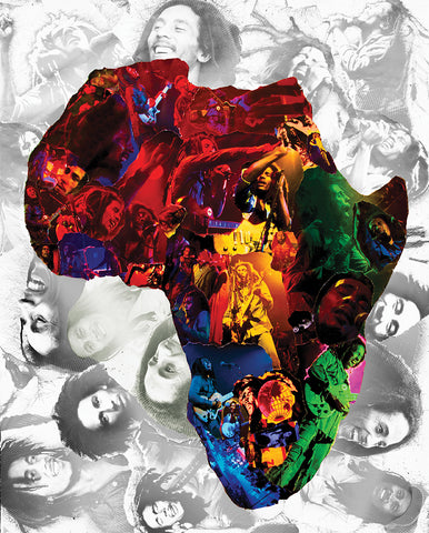 Bob Marley Africa Collage /  Art - multymedia