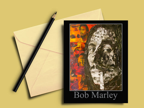 Bob Marley Collage Greeting Card - multymedia