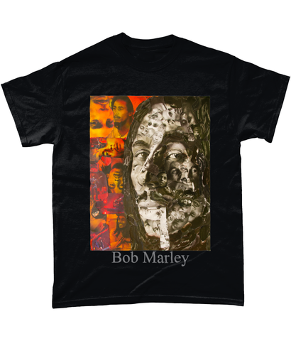Bob Marley Collage Short-Sleeve T-Shirt - multymedia