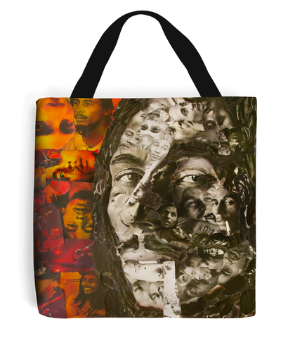 Bob Marley Collage Tote Bag