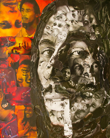 Bob Marley Collage Poster