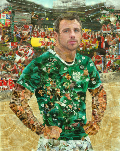Tommy Bowe Collage Poster - multymedia