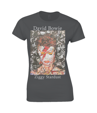 David Bowie Collage Womens T Shirt
