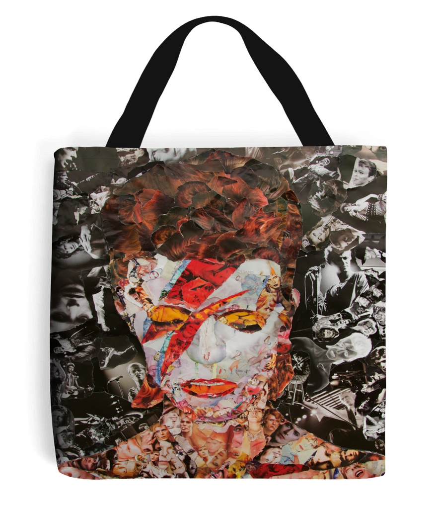 David Bowie Collage Tote Bag - multymedia