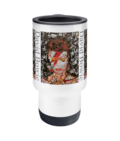 David Bowie Collage Travel Mug 14oz - multymedia