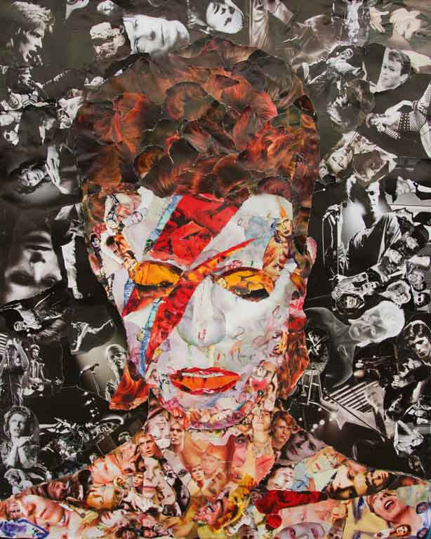 David Bowie Collage Giclee Print - multymedia