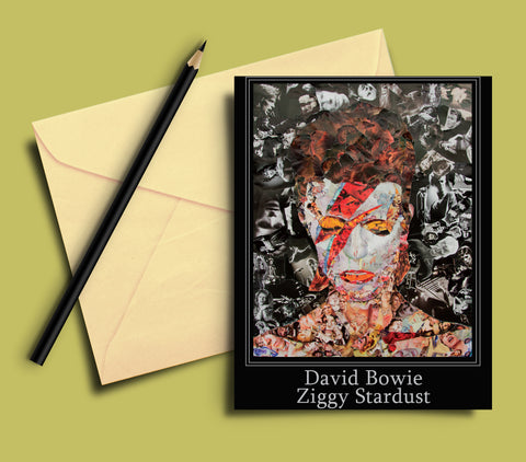 David Bowie Ziggy Greeting card - multymedia