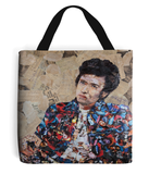 Bob Dylan Collage Tote Bag - multymedia