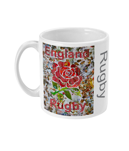 England Rugby Collage Mug - multymedia