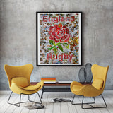 England Rugby Collage / Art Giclee Print - multymedia