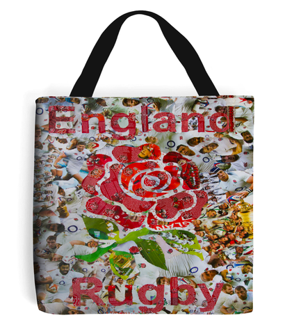 England Rugby Collage Tote Bag - multymedia