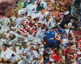 England Rugby Collage Poster - multymedia