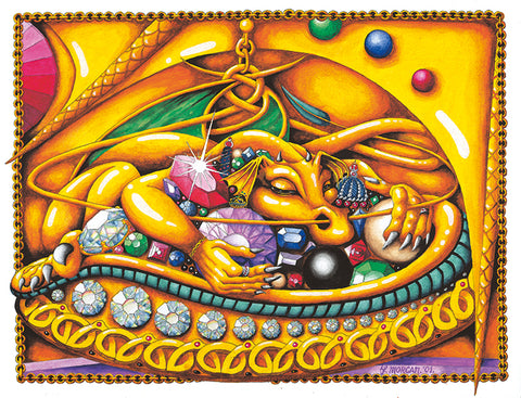 Golden Dragon Poster by Francis Morgan - multymedia