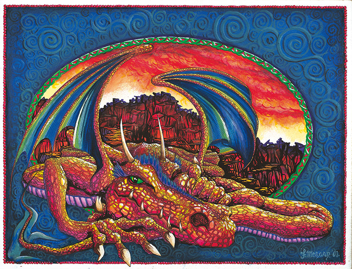 Dragon on Rocks Giclee Print by Francis Morgan - multymedia