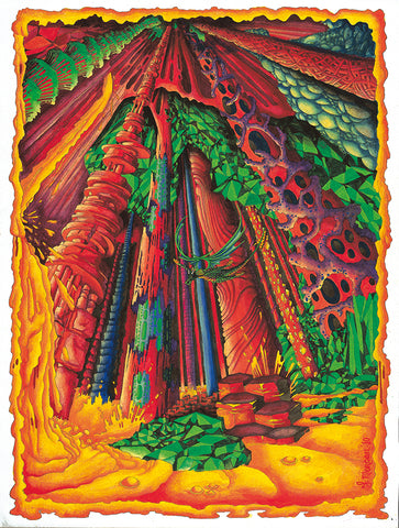 Dragon Cavern Giclee Print by Francis Morgan - multymedia