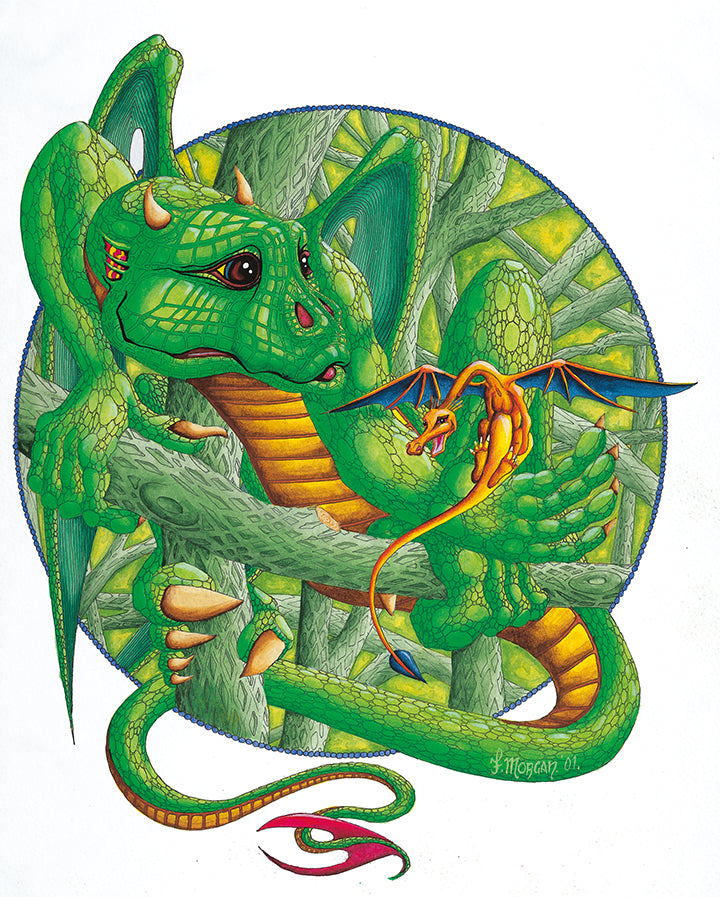 Green Dragon Poster by Francis Morgan - multymedia