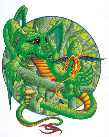 Green Dragon Giclee Print by Francis Morgan - multymedia