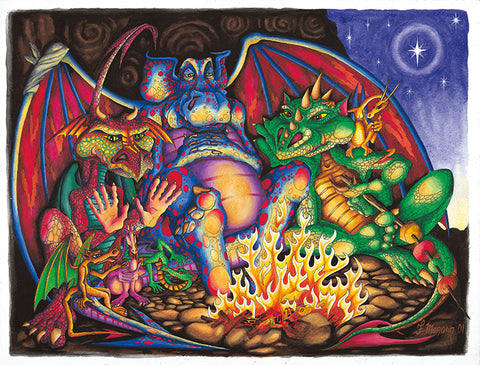 Dragon Fire Giclee Print by Francis Morgan - multymedia