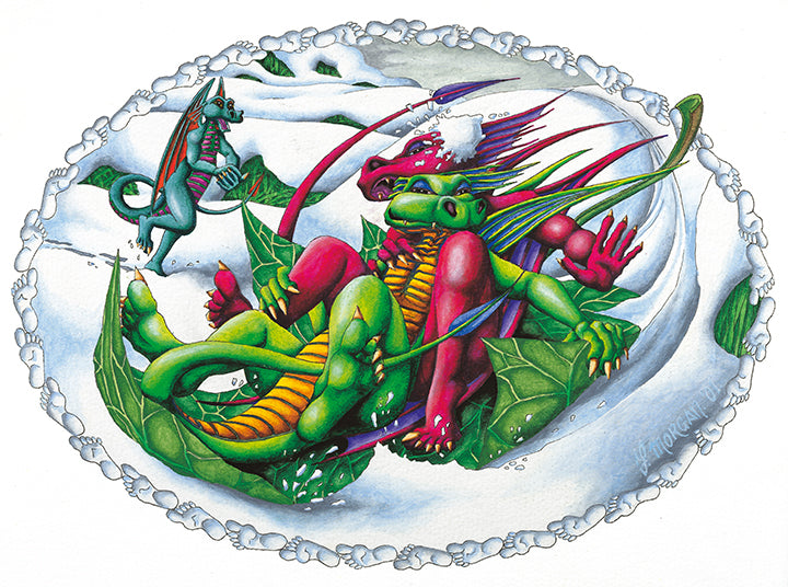 Dragon Snow Canvas Print - multymedia