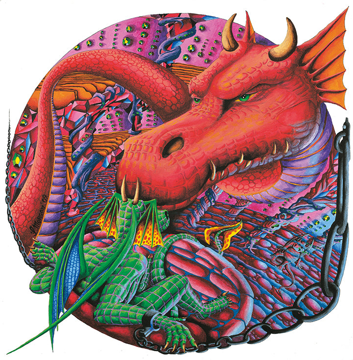 Red Dragon Giclee Print by Francis Morgan - multymedia