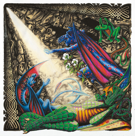 Dragon Cave Giclee Print by Francis Morgan - multymedia