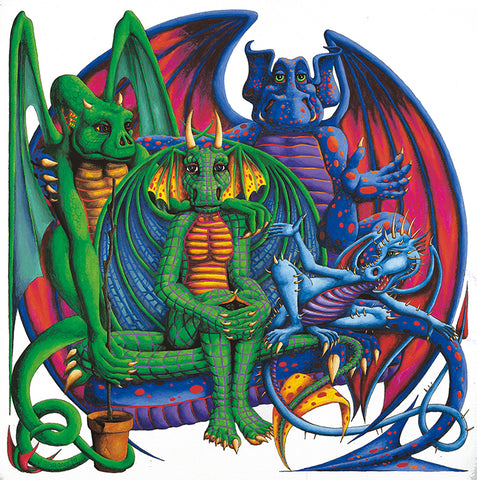 Dragon Four Poster by Francis Morgan - multymedia