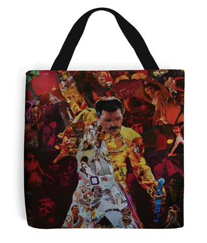 Freddie Mercury Collage Tote Bag - multymedia