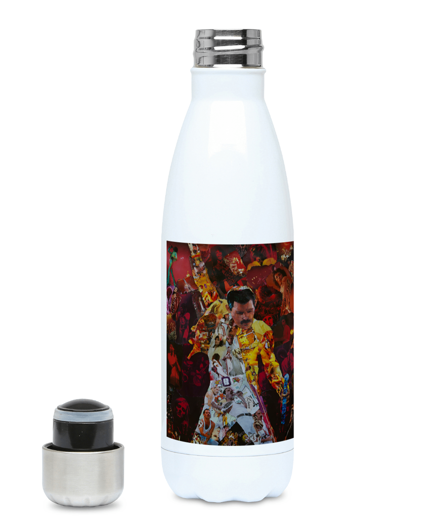 Freddie Mercury Water Bottle 500ml Hot or Cold - multymedia