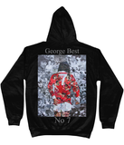 George Best Collage Hoodie - multymedia
