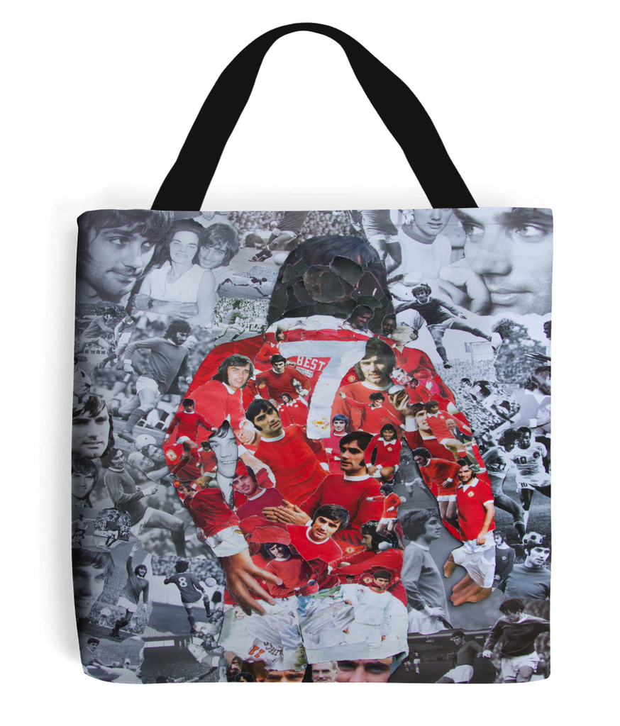 George Best Collage Tote Bag - multymedia