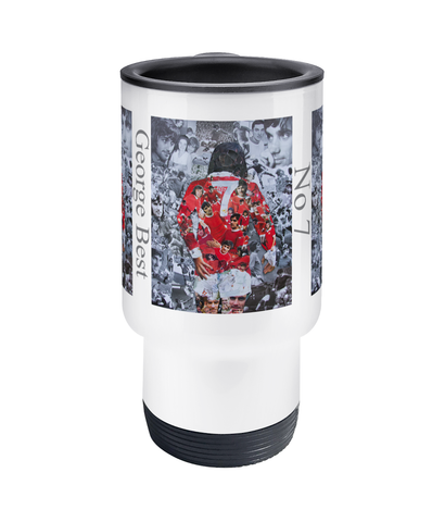 George Best Collage Travel Mug 14oz - multymedia