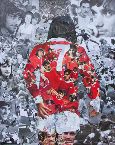 George Best Collage Poster - multymedia