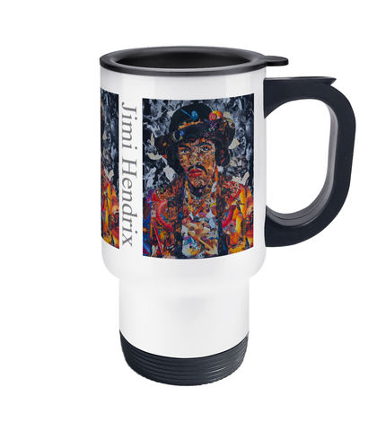 Jimi Hendrix Collage Travel Mug 14oz - multymedia