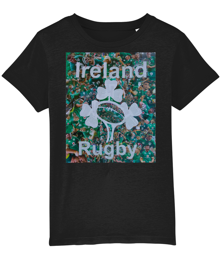 Ireland Rugby Collage Kids T-Shirt