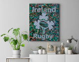 Ireland Rugby Collage Canvas Print - multymedia