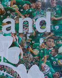 Ireland Rugby Collage / Art Giclee Print - multymedia