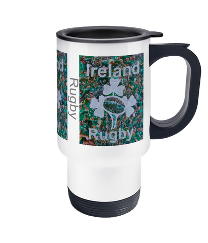 Ireland Rugby Travel Mug 14oz - multymedia
