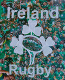 Ireland Rugby Collage Womens T Shirt