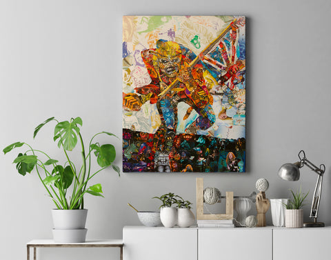 Iron Maiden The Trooper Canvas Print - multymedia