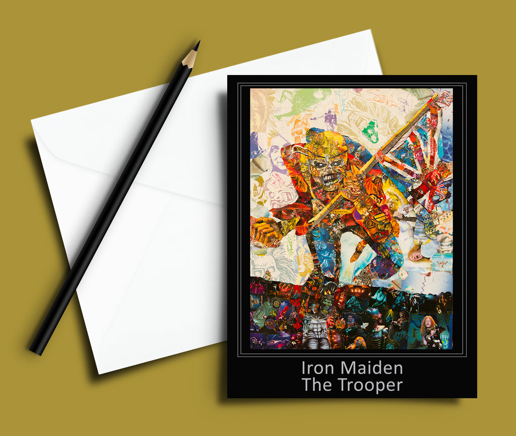 Iron Maiden The Trooper Collage Greeting Card - multymedia