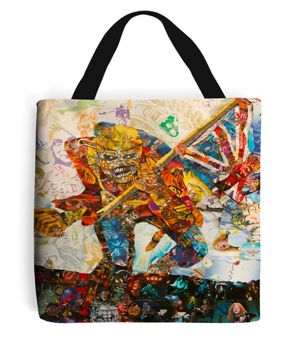 Iron Maiden Collage Tote Bag - multymedia