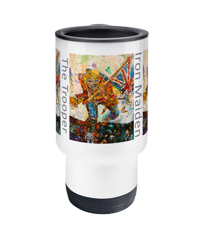 Iron Maiden Collage Travel Mug 14oz - multymedia