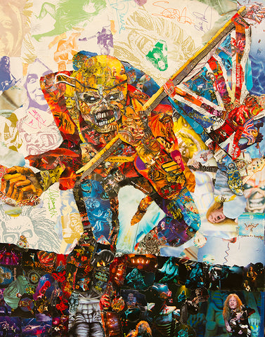 Iron Maiden The Trooper Collage Poster - multymedia