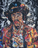 Jimi Hendrix Collage Poster - multymedia