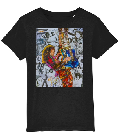 Jimmy Page Collage Kids T-Shirt