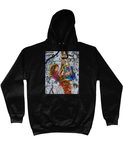 Jimmy Page Collage Hoodie - multymedia