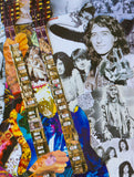 Led Zeppelin Jimmy Page Collage Greeting Card - multymedia