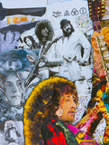 Led Zeppelin Jimmy Page Collage Poster - multymedia
