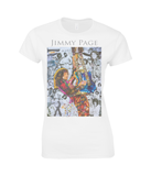 Jimmy Page Collage Womens T Shirt
